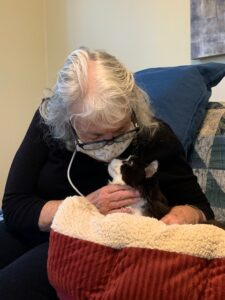 photo of cat with senior woman